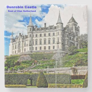 Dunrobin Castle Stone Beverage Coaster