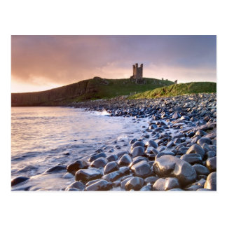 Dunstanburgh Castle Dawn - Postcard