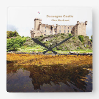 Dunvegan Castle Square Wall Clock