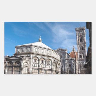 Duomo and Baptistry, Florence rectangular sticker