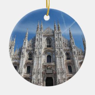 Duomo di Milano Milan Cathedral Italy Round Ceramic Ornament