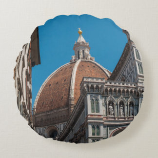 Duomo in Florence Italy Round Pillow