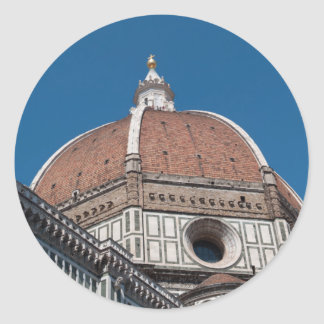 Duomo in Florence Italy Round Sticker