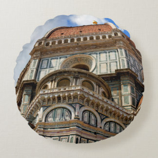 Duomo, in Florence, Tuscany, Italy Round Pillow