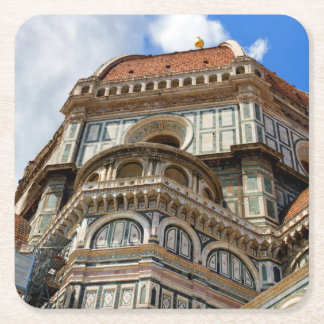 Duomo, in Florence, Tuscany, Italy Square Paper Coaster