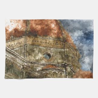 Duomo Santa Maria Del Fiore and Campanile Kitchen Towel