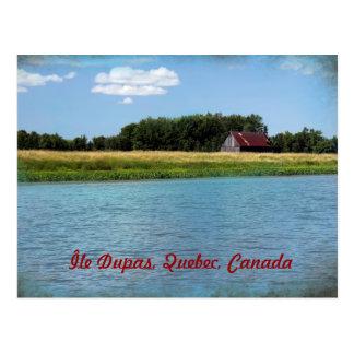 Dupas Island in Quebec, Canada Postcard