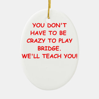 duplicate bridge ceramic ornament