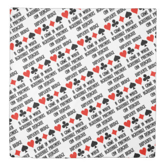 Duplicate Bridge Game Agreeable Partners Disagree Duvet Cover