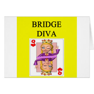 duplicate bridge game player greeting card