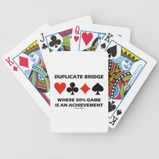 Duplicate Bridge Where 50% Game Is An Achievement Bicycle Playing Cards