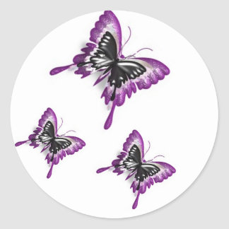 Duplicated Butterflies-Sticker Round Sticker