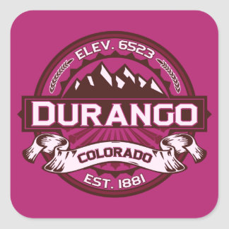 Durango Logo Raspberry Square Sticker