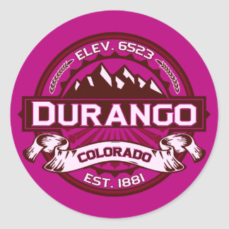 Durango Logo Raspberry Stickers
