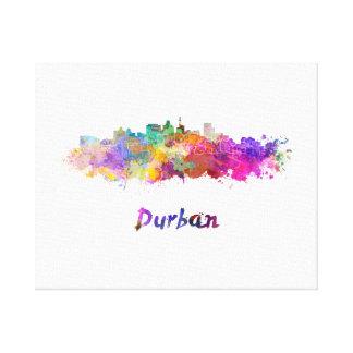Durban skyline in watercolor canvas print