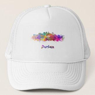 Durban skyline in watercolor trucker hat
