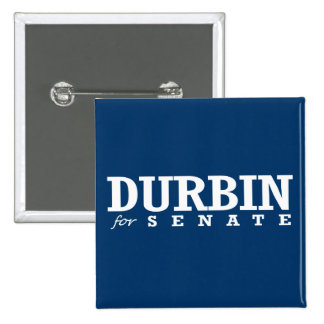 DURBIN FOR SENATE 2014 2 INCH SQUARE BUTTON
