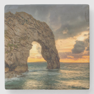 Durdle Door Jurassic Coastline  Dorset, England Stone Coaster