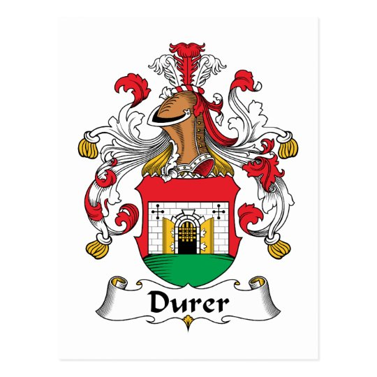 Durer Family Crest Postcard
