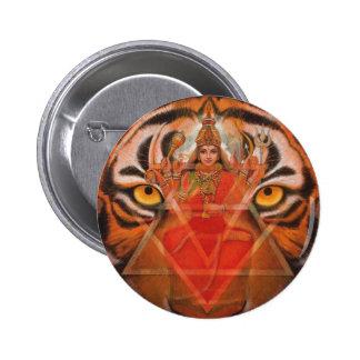 Durga et tigre macaron rond 5 cm