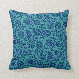 Durga Feather Damask 2 Throw Pillow