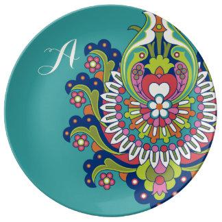 Durga Monogram Porcelain Plate