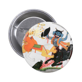 Durga slaying a demon 2 inch round button