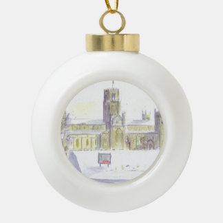 Durham Cathedral  bauble Ceramic Ball Christmas Ornament