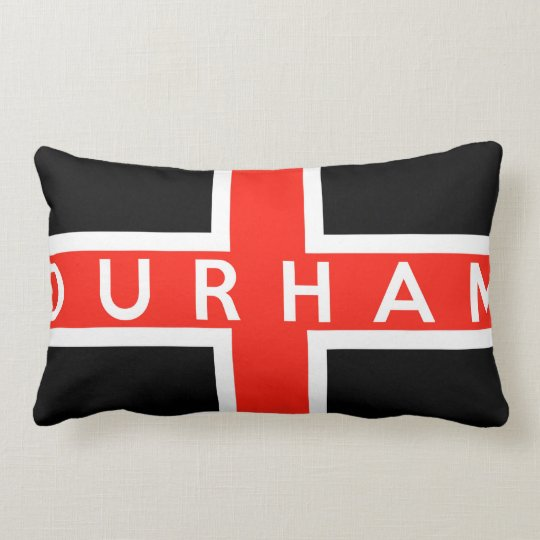 durham city flag england british text name lumbar pillow