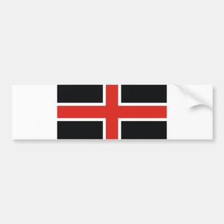 durham city flag united kingdom town bumper sticker