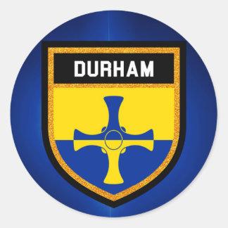 Durham Flag Classic Round Sticker