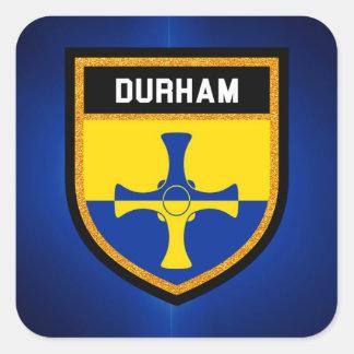Durham Flag Square Sticker