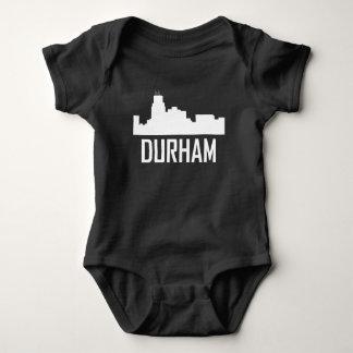 Durham North Carolina City Skyline Baby Bodysuit