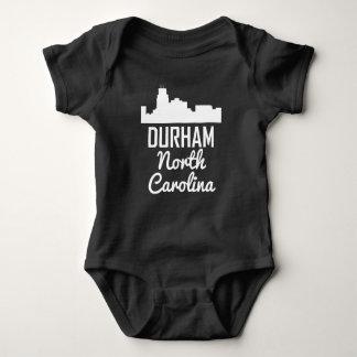 Durham North Carolina Skyline Baby Bodysuit