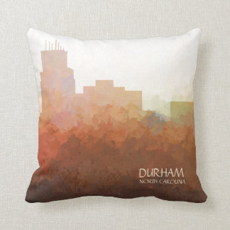 Durham, North Carolina Skyline-In the Clouds Throw Pillow