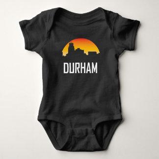 Durham North Carolina Sunset Skyline Baby Bodysuit