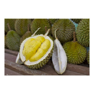 Durian King of Fruits in Singapore City Poster