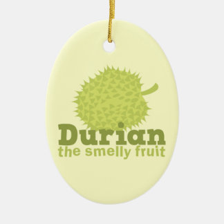Durian the Smelly Fruit (from South east Asia) Ceramic Oval Ornament