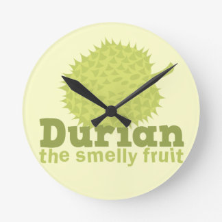 Durian the Smelly Fruit (from South east Asia) Wall Clocks