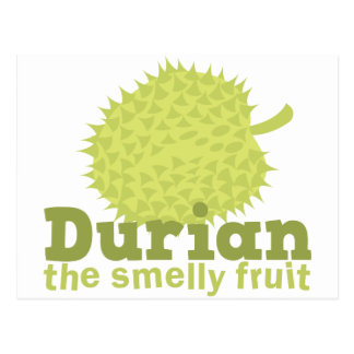 Durian the smelly fruit postcard