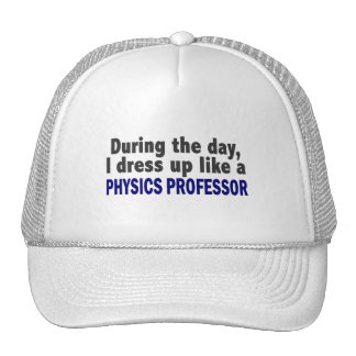 During The Day I Dress Up Like A Physics Professor Mesh Hats