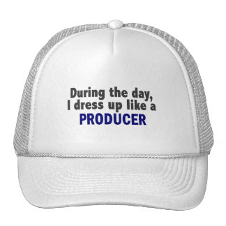 During The Day I Dress Up Like A Producer Mesh Hats