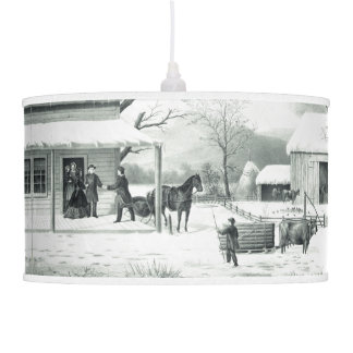 Durrie Currier Ives Home Thanksgiving Hanging Lamp