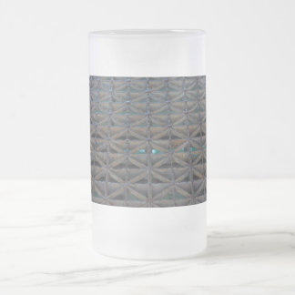 Dusable Bridge Abstract Frosted Glass Beer Mug