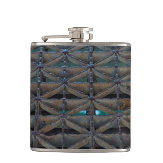 Dusable Bridge Abstract Hip Flask