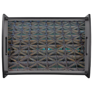 Dusable Bridge Abstract Serving Tray