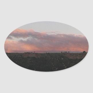 Dusk 1 oval sticker