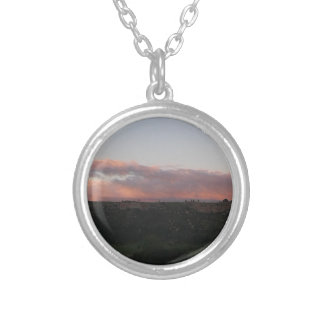 Dusk 1 silver plated necklace