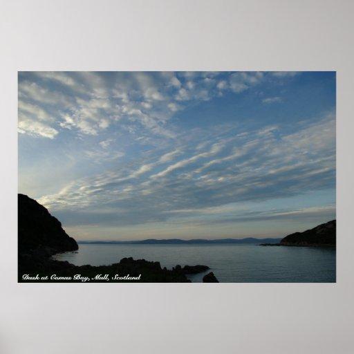 Dusk at Camus Bay, Mull, Scotland Print