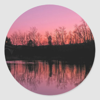 Dusk at Chambers Grove Classic Round Sticker